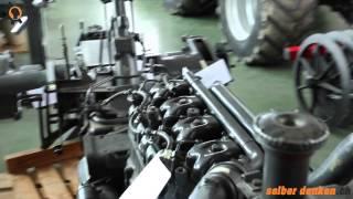 Traktorenteile und Dieselmotor